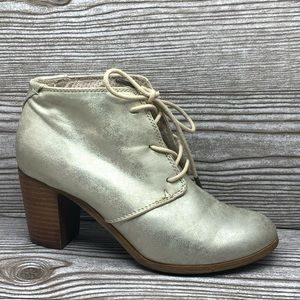 Toms gold metallic ankle boots